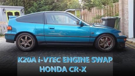 236馬力!K20A型i-VTECエンジンスワップ!S2000スケールメーター!EF型ホンダCR-Xのイギリス中古車を掲載。