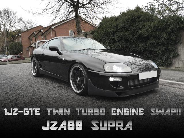 1JZツインターボエンジン5速MTスワップ!JZA80スープラのイギリス中古車を掲載。