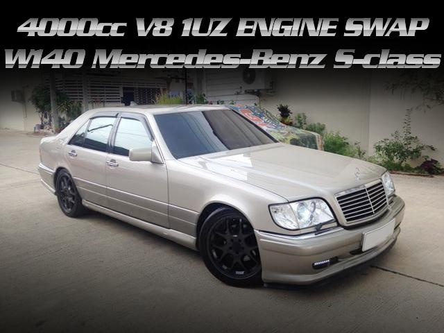 トヨタ用1UZ-FEエンジンスワップ!W140型メルセデス・ベンツSクラスのタイ中古車を掲載。