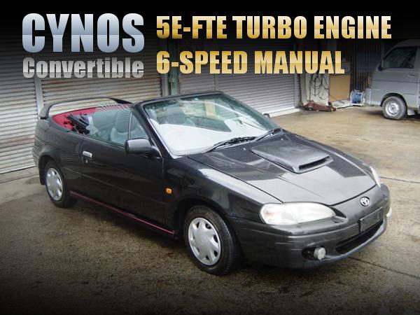 5E-FTEターボエンジン6速MT仕上げ!パワステエアコン使用可!EL52C型サイノス・コンバーチブルの中古車を掲載!