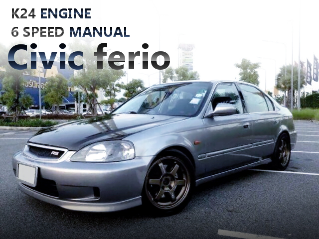 K24型i-VTECエンジン6速MTスワップ!NSXブレーキ!EK型シビックフェリオのタイ中古車を掲載。
