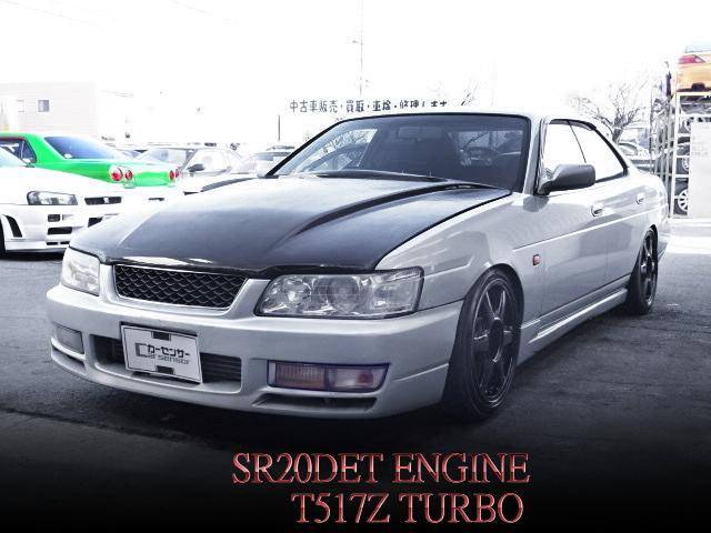 SR20DETエンジン5MTスワップ!TRUST製T517Zタービン装着!GC35型ローレル25クラブSの中古車を掲載!