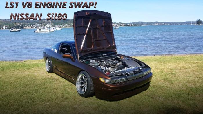 5.7リッターV8型LS1エンジンT56型6速MTスワップ!S13系シルエイティのオーストラリア中古車を掲載!