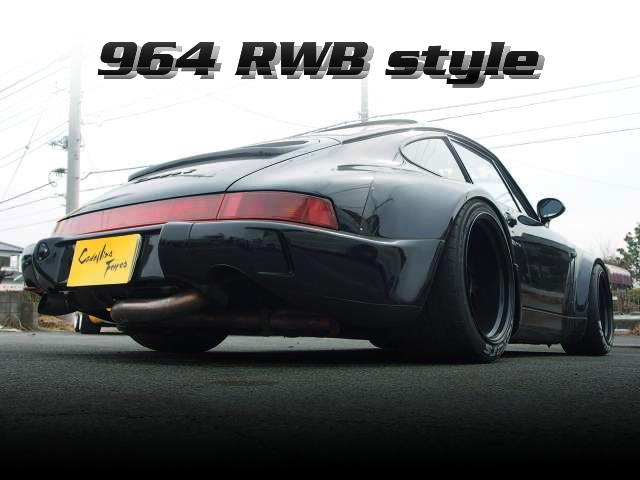 RWBワイドボディ仕上げ!ステンレスエキゾースト!964型ポルシェ911カレラ2の国内中古車を掲載!