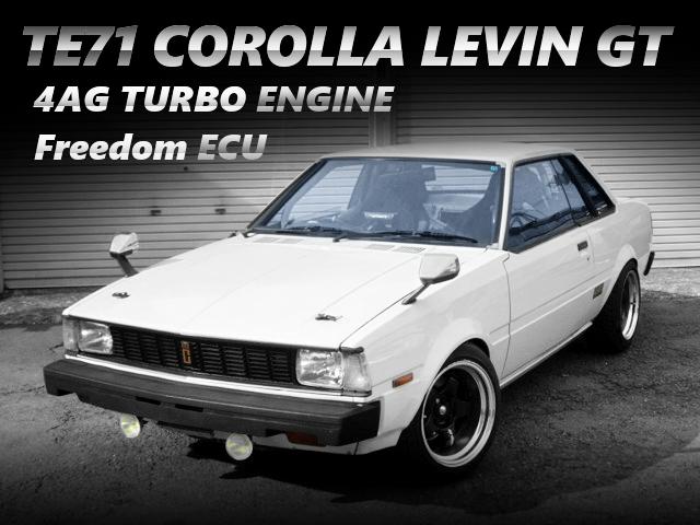 AE92用4AGエンジン改S13タービン装着!FC3S用ブレーキ!TE71型カローラレビンGTの中古車を掲載!
