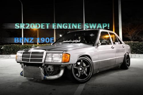 日産用SR20DETターボエンジン搭載!W201型メルセデスベンツ190Eのタイ中古車を掲載!&館林痛車MTG動画