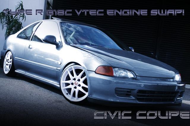 インテグラタイプR用B18C型VTECエンジン5速MT移植!LHDモデル初代シビッククーペの国内中古車を掲載!