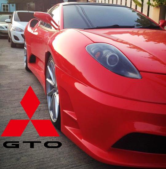 フェラーリF430レプリカボディ仕上げ!三菱GTOのタイ中古車を掲載!