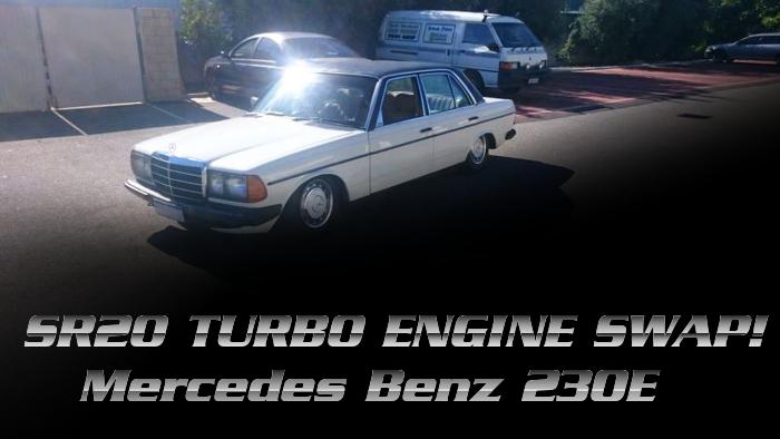 SR20DETターボエンジン5速MTスワップ!W123型メルセデスベンツ230Eのオーストラリア中古車を掲載!