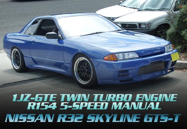 1JZ-GTEツインターボエンジンR154型5速MTスワップ!R32スカイライン2ドアGTS-tのオーストラリア中古車を掲載!