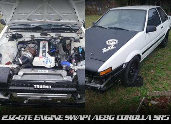 VVTi仕様2JZ-GTE改GT30ボールベアリングタービン!ATシフト仕上げ!AE86カローラSR5の海外中古車を掲載