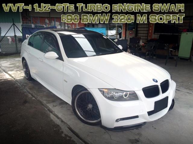VVT-i仕様1JZ-GTEターボエンジンATシフト仕上げ!E90型BMW320i Mスポーツのマレーシア中古車を掲載!