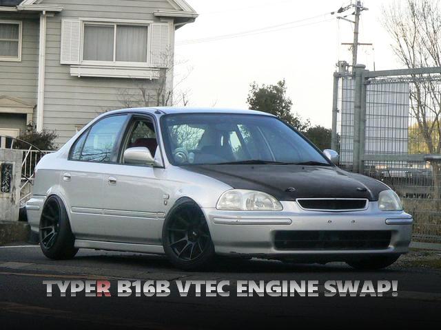 シビックタイプR用B16B型VTECエンジン公認!EK3型シビックフェリオ1.5MLの中古車を掲載!