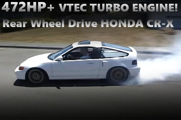 後輪駆動!472馬力!VTECターボエンジンミッドシップ搭載!EF系ホンダCR-Xのアメリカ中古車(2011年頃)を掲載!