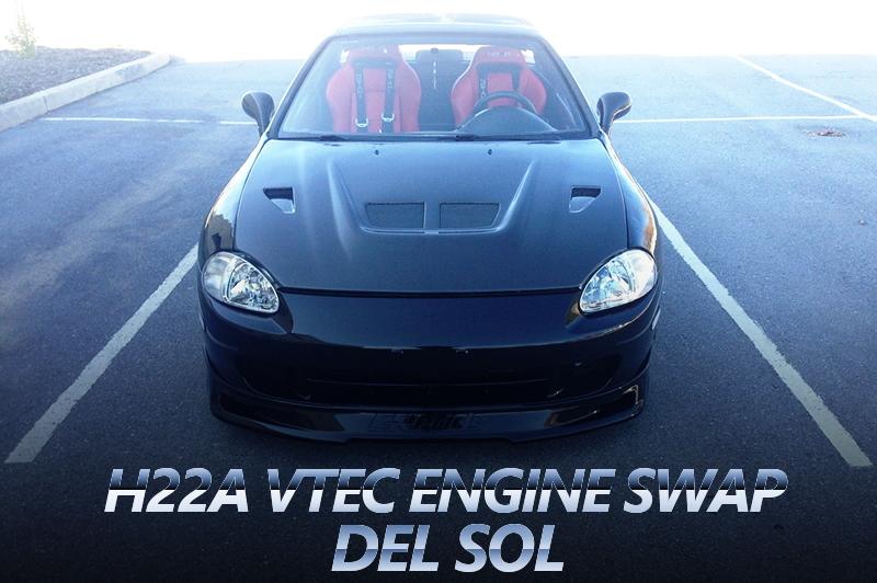 H22A型VTECエンジンH型用5速MTスワップ!HONDATA制御!EG1型デルソルのアメリカ中古車を掲載。