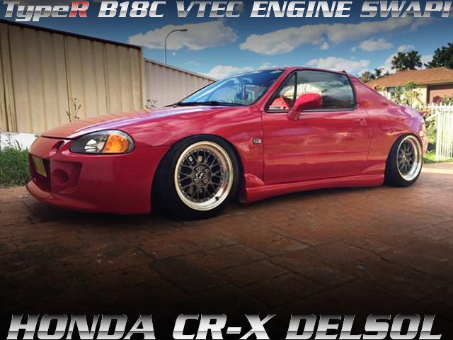 インテグラタイプR用B18Cエンジン5速MTスワップ!ホンダCRXデルソルのオーストラリア中古車を掲載!