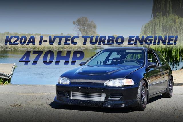 470馬力!K20A改i-VTECターボエンジン!5代目EG型シビックSiのアメリカ中古車を掲載!