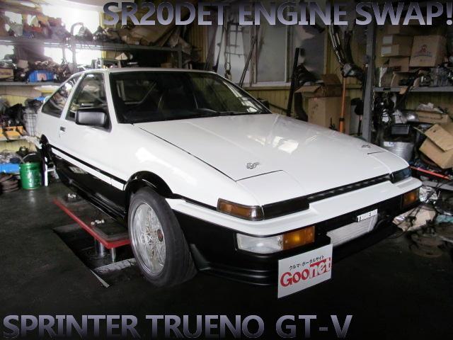 SR20DETターボエンジン公認!フルスポット増しレストア済み!AE86スプリンタートレノGT-Vの中古車を掲載!
