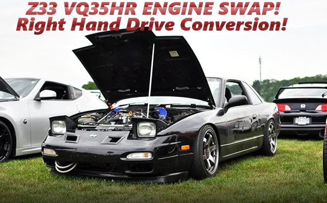 Z33用VQ35HRエンジン6速MTスワップ!右ハンドル変換!S13日産240SXのアメリカ中古車を掲載。