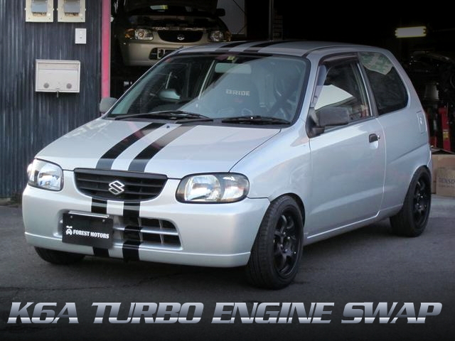 K6Aツインカムターボエンジン移植!2シーターロールバー!HA23V型アルト3ドアVsの中古車を掲載!