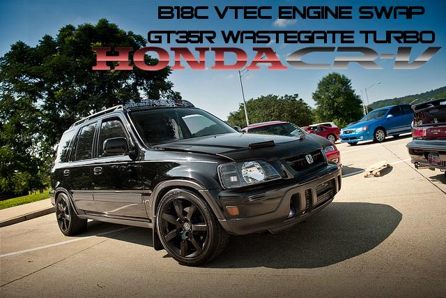 アキュラGSR用B18C型VTECエンジン換装GT35Rウエストゲートターボ!初代ホンダCR-Vのアメリカ中古車(2011年頃)を掲載!
