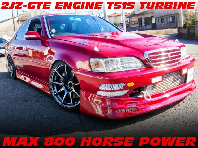 MAX800馬力!2JZエンジン改T51Sタービン金プロ制御!ゲトラグ6速MT!JZX100クレスタ・ルラーンGの中古車を掲載!