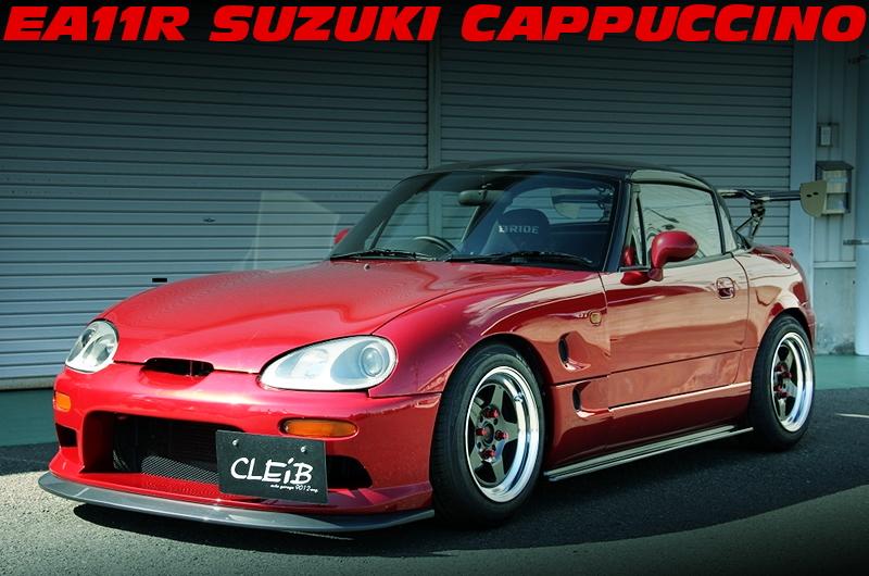 モンスタースポーツタービン装着モンスタースポーツECU制御!EA11R型SUZUKIカプチーノの中古車を掲載!