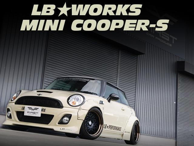 LBパフォーマンス製LBワークスキット装着ワイドボディ仕上げ!MINIクーパーSの中古車を掲載!