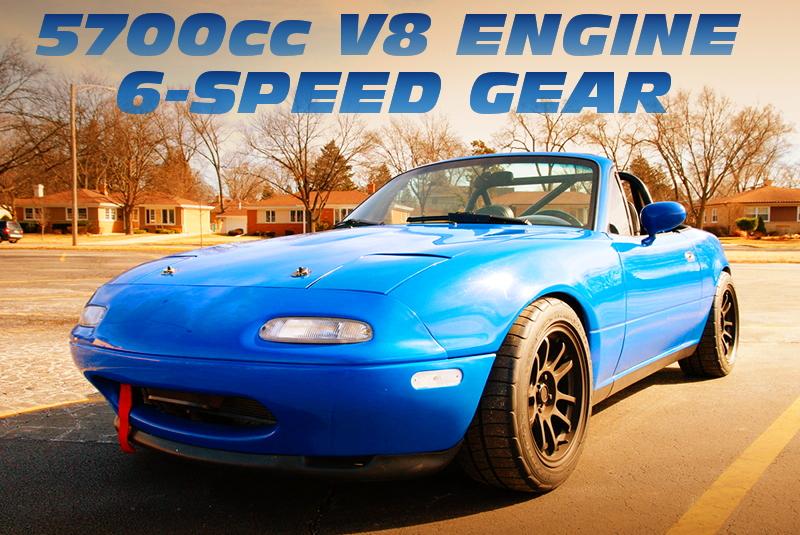 5700cc V8!カマロ用LS1エンジン6速マニュアル移植!NA系マツダ・ミアータMX5のアメリカ中古車を掲載!