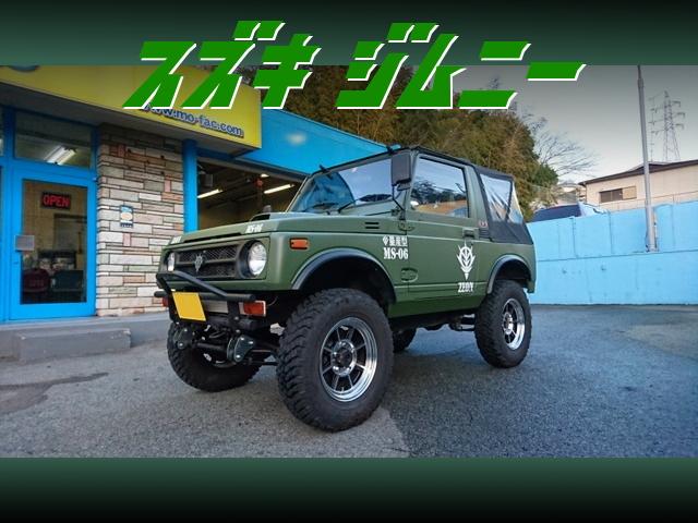 量産型MS-06ザクIIマットグリーンカラー仕上げ!スズキ・ジムニーの中古車を掲載!