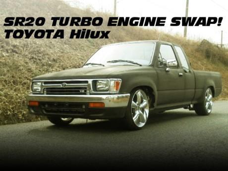 SR20DETターボエンジン5速MT仕上げ!左ハンドル!5代目ハイラックスEXキャブの中古車を掲載!
