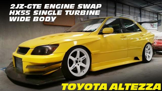 2JZ-GTEエンジン改HX55ビッグタービン金プロ制御!ワイドボディ仕上げ!アルテッツァのタイ中古車を掲載!