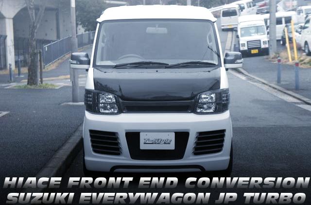 200系3型トヨタハイエース顔仕上げ!3代目エブリイワゴンJPターボの未使用車を掲載!