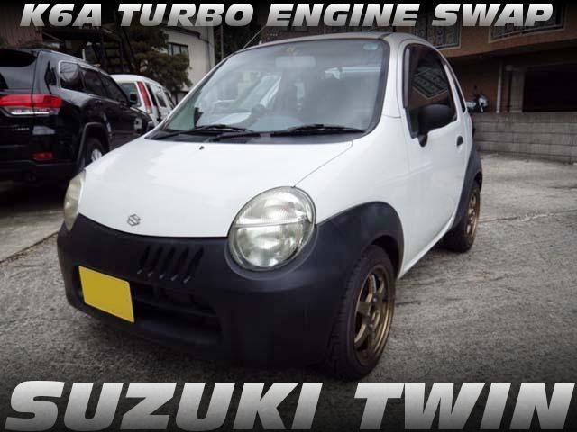K6Aツインカムターボエンジンスワップ!5速MT組み合わせ!SUZUKIツインの中古車を掲載!