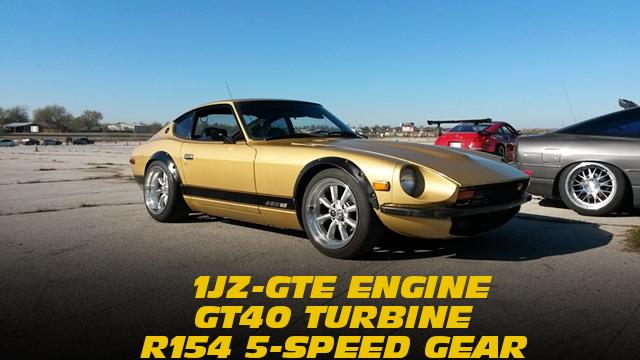 1JZ-GTEエンジン改ギャレットGT40タービン!R154型5速MT組み合わせ!S30ダットサン280Zのアメリカ中古車を掲載!