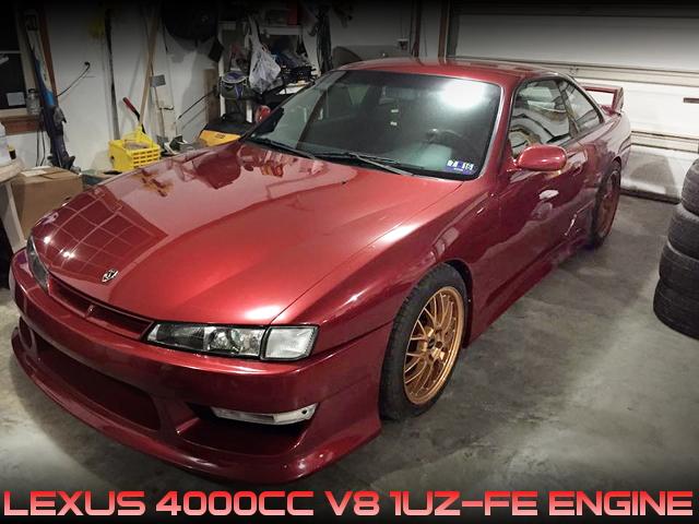 レクサス用4リッターV8型1UZ-FEエンジン搭載!後期S14ニッサン240SXのアメリカ中古車を掲載!