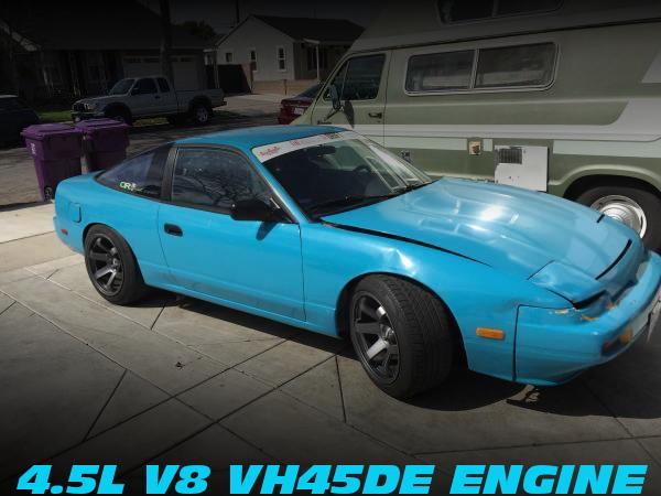 VH45DE型V8エンジン移植!300ZX用5速MT仕上げ!日産240SXのアメリカ中古車を掲載!