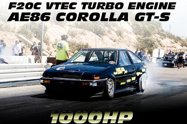 オプション掲載!1000馬力!S2000用F20Cエンジン改GTX4202タービンHaltech制御!AE86カローラGTSのアメリカ中古車を掲載!