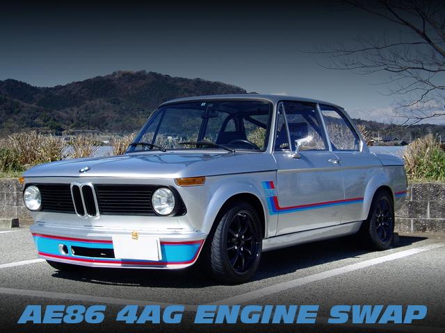 AE86用4AGエンジン・ミッション・ホーシング移植!BMW2002ターボ仕様の部品取り車両物件を掲載!