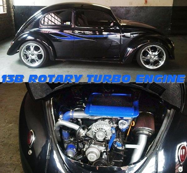 マツダ13B-T型ロータリーターボエンジン移植!フォルクスワーゲン・タイプ1(ビートル)の南アフリカ中古車を掲載!