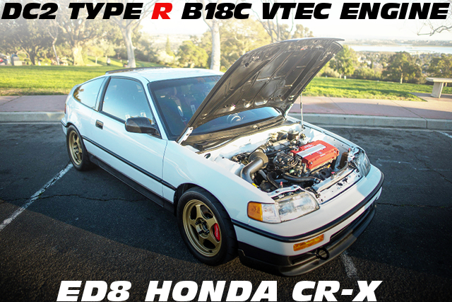 JDM用DC2タイプR流用B18C型VTECエンジン移植!ワイヤータック化!ED8系ホンダCR-Xのアメリカ中古車を掲載!
