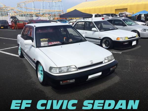 スタンス仕上げ!CRUX車高調SSRメッシュ履き替え!EFシビックセダンの国内中古車を掲載!