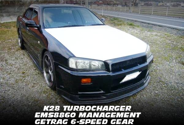 ネオ6仕様RB25ヘッド腰下GTRブロック6スロ仕上げ!K28タービンEMSフルコン制御!ゲトラグ6速MT!ENR34スカイライン4ドアの中古車を掲載!
