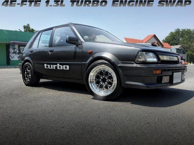 4E-FTE型1.3Lターボエンジンスワップ!2シーター仕上げ!EP71スターレット・ターボSのタイ中古車を掲載!