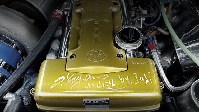 JUNオート小山進氏サイン入り!トップシークレットGT300ワイド!T88タービンVプロ制御!JZA80スープラタルガのタイ中古車を掲載!