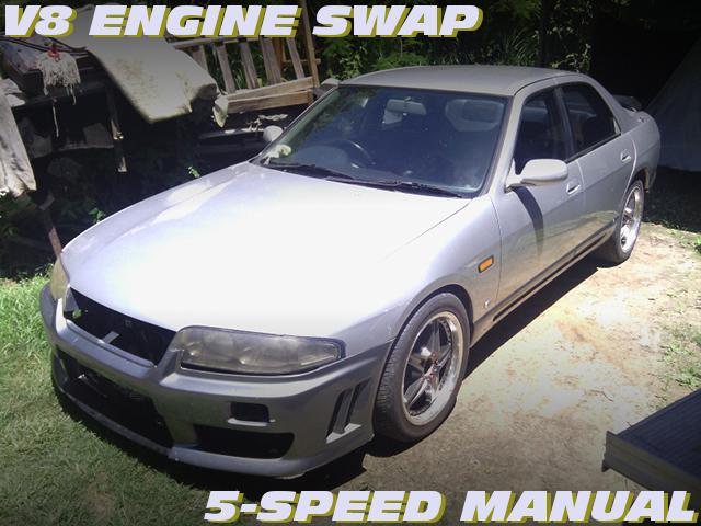 V8エンジン308cuiブロックスワップ!5速MT組み合せ!R33スカイライン4ドアのオーストラリア中古車を掲載!