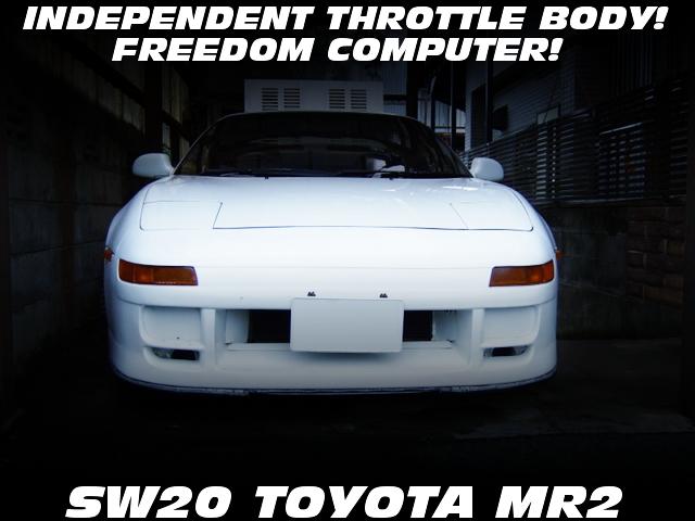 3S-GE改4連スロットル仕上げフリーダム制御!一時抹消書類付エンジン始動!SW20型トヨタMR2の部品取り丸車販売物件を掲載!
