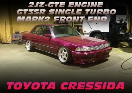 2JZエンジン換装!GT35Rシングルタービン!X81系マーク2顔面移植!X83系クレシーダのオーストラリア中古車を掲載!