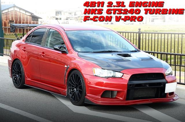 4B11改2.3LエンジンGT3240タービンVプロ仕上げ!ランサーエボリューションXの中古車を掲載!