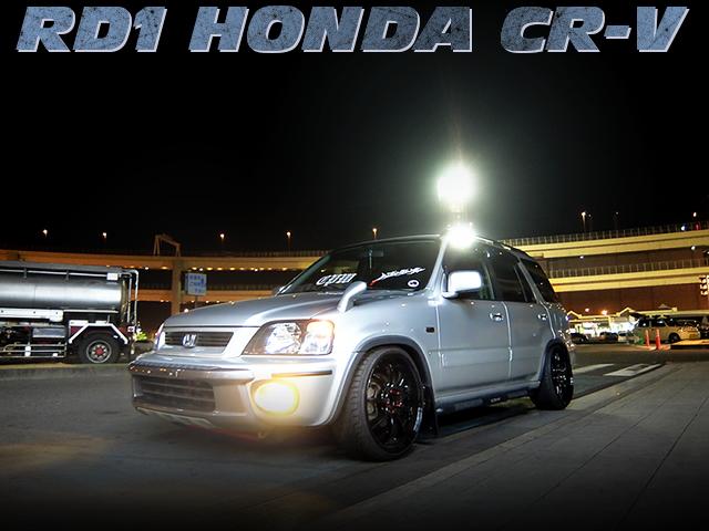 スタンス系仕上げ!ワンオフデュアルマフラー!5速MTモデルRD1型ホンダCR-Vの中古車を掲載!